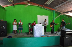 Worship Team at Pastor Rolando's Church