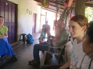 One of our teams sharing with a family in a home.