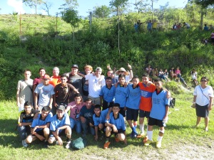 Note to church - next time bring a few soccer players. Their junior high team taught us a lesson in futbol.