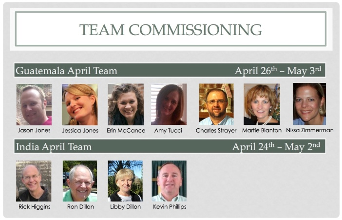 April Team Commissioning