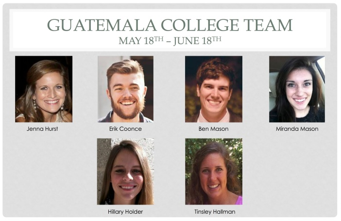 Guatemala College Team
